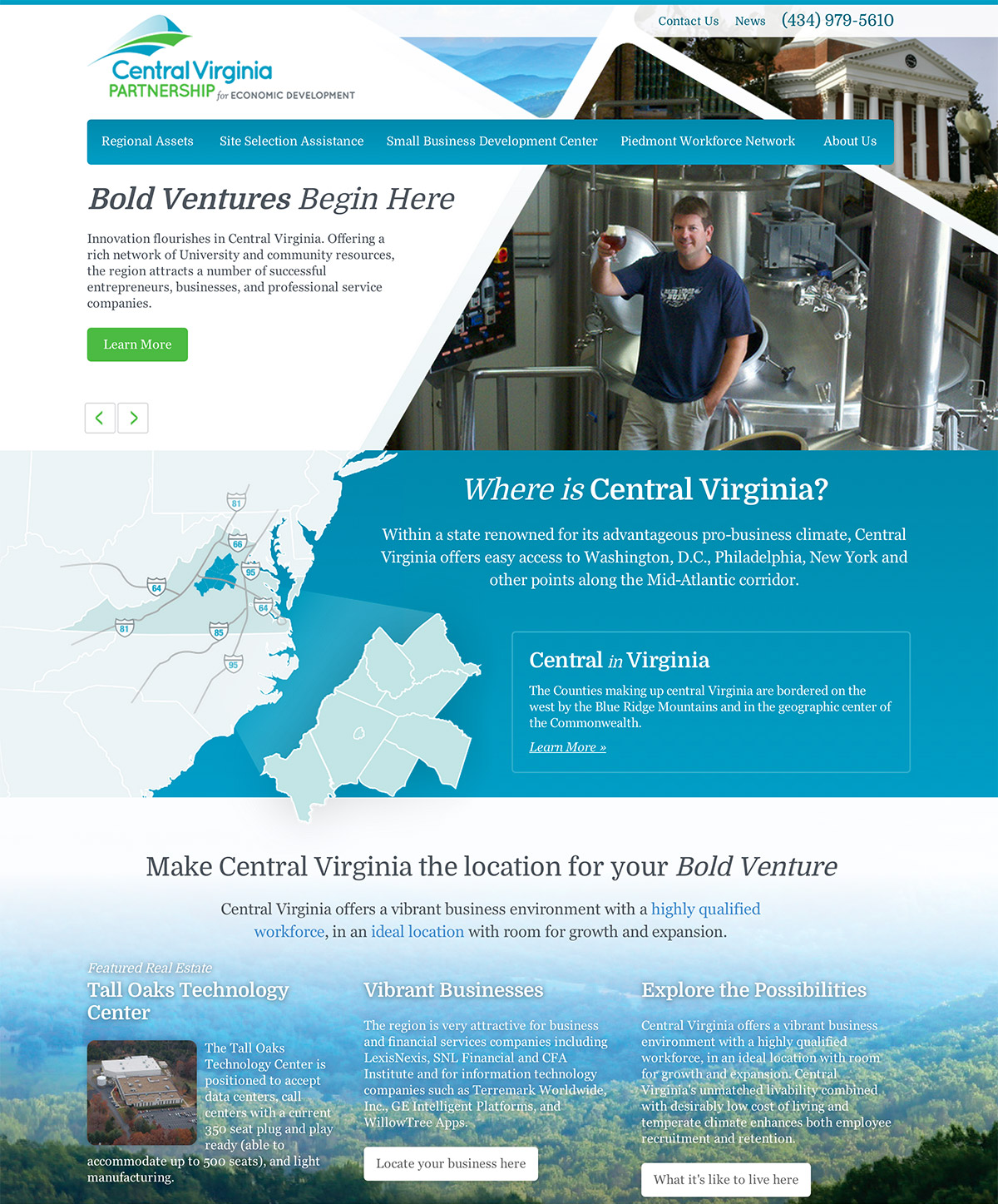 Central Virginia Partnership Website Refresh Launches