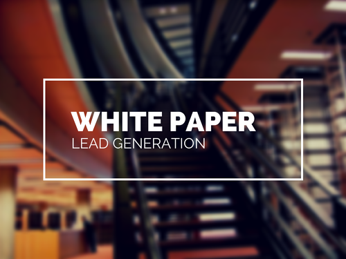 White Paper Lead Generation: Using Educational Resources to Sell