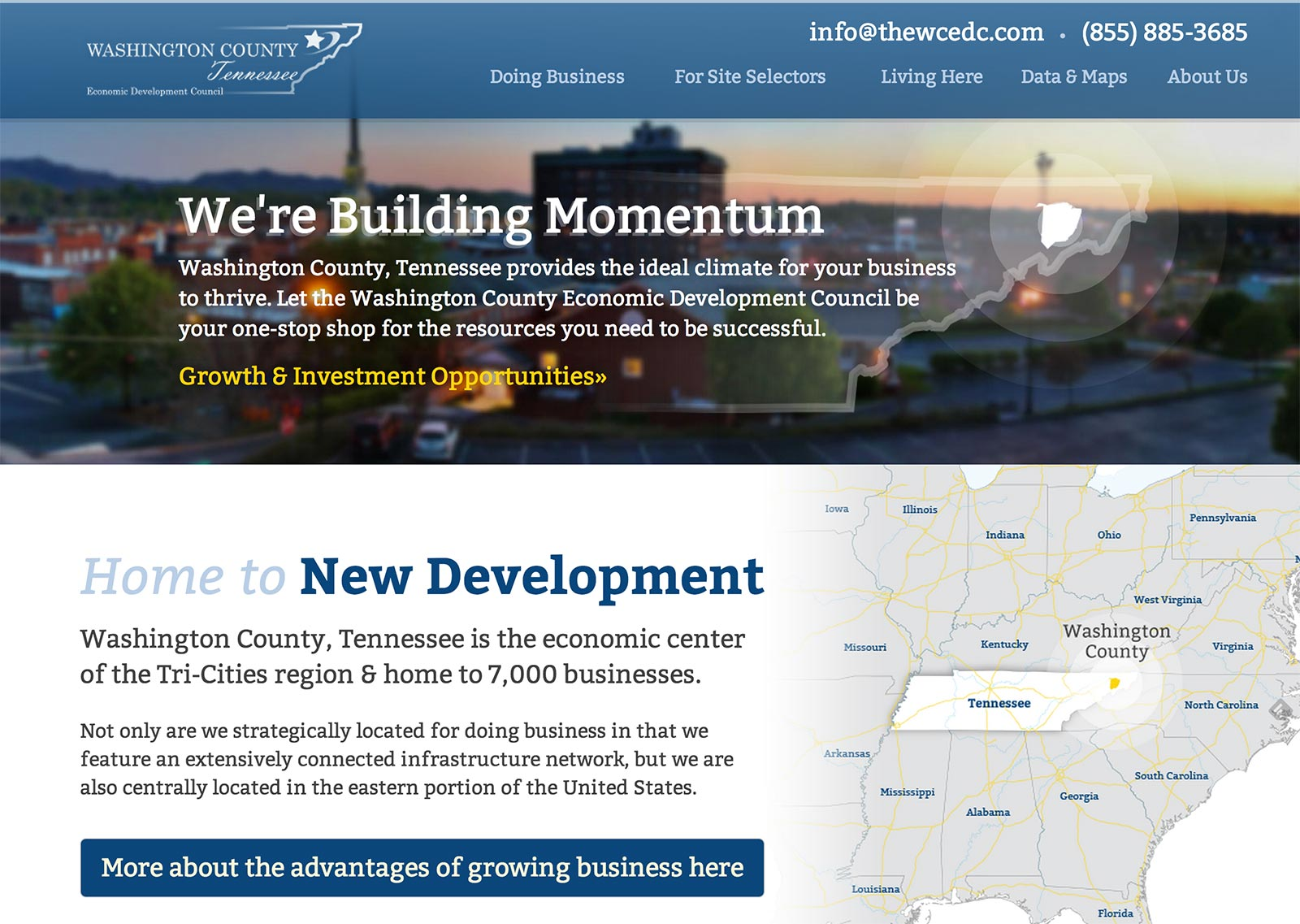 Washington County Economic Development Council Website Launches