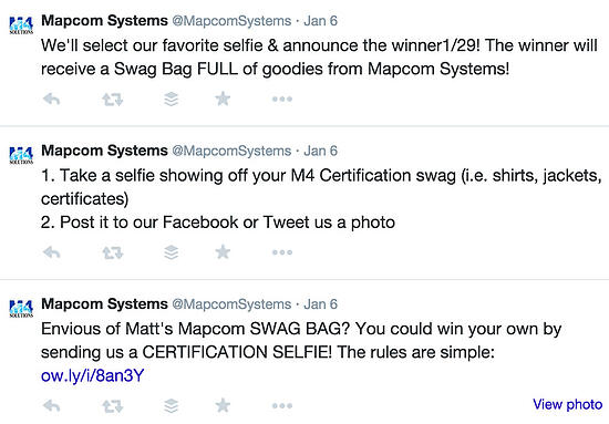 Mapcom social media contest example