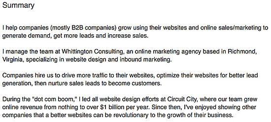 Rick's LinkedIn Summary paragraphs