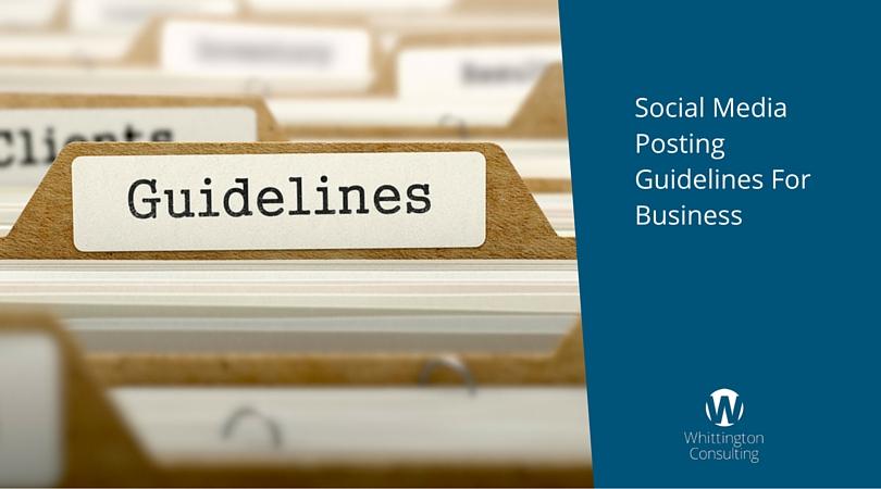 Social Media Posting Guidelines For Business