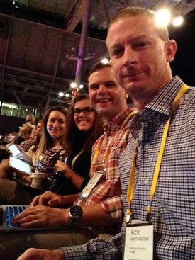 Our marketing team before an INBOUND 2014 keynote