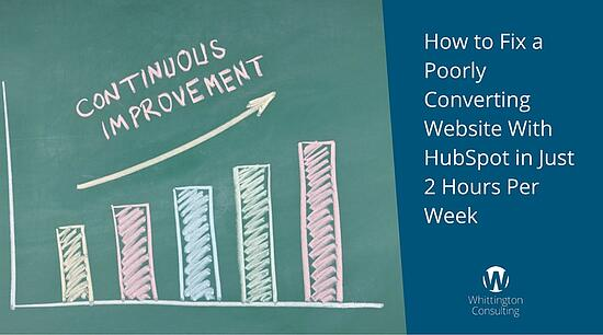 How to Fix a Poorly Converting Website With HubSpot in Just 2 Hours Per Week