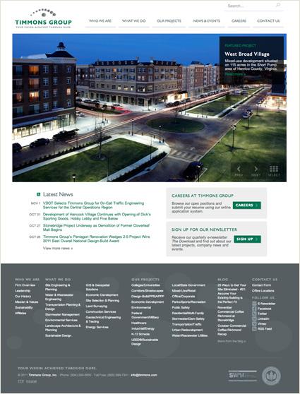 Timmons.com homepage screenshot