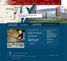 Stafford County, Virginia economic development homepage