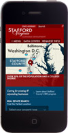 Stafford County, Virginia website on a mobile device