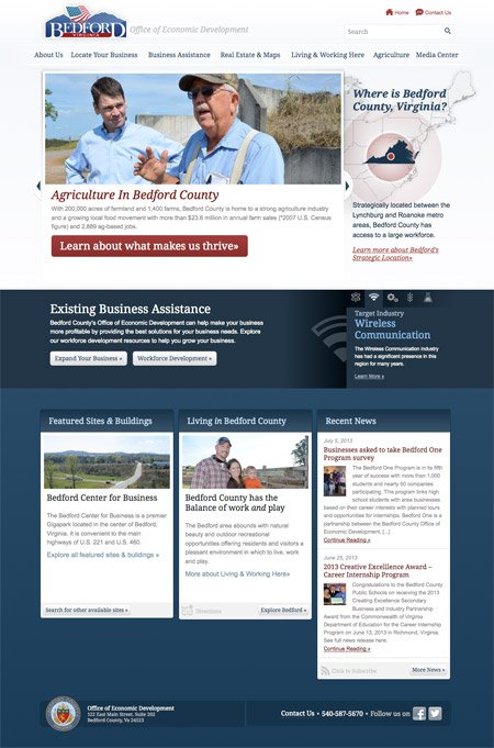 New Website for Bedford County Virginia Economic Development Launches