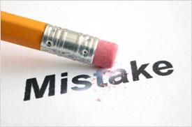 Eraser: Mistake