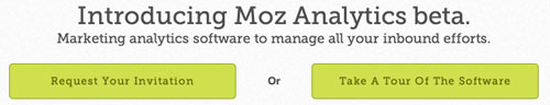 CTA example from Moz