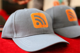 RSS icon on a hat