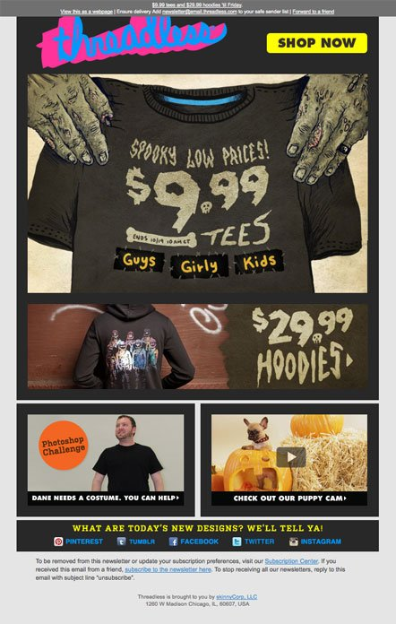 Email Marketing Done Right: The Threadless Newsletter
