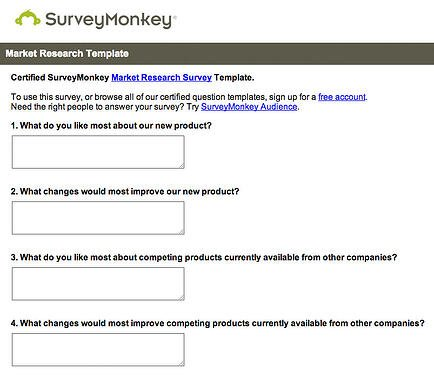 Survey Monkey Marketing Survey Template