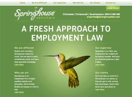 SpringhouseLaw.com homepage