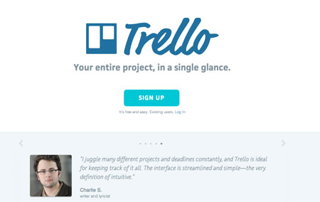 Trello call to action