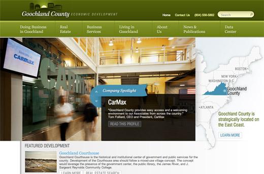 New Economic Development Website for Goochland County, Virginia