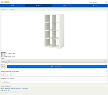 ikea mobile website screenshot