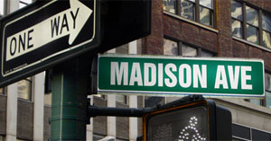 Sign-Madison Ave. NYC