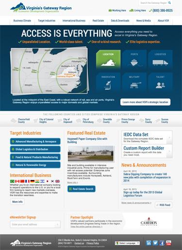 Virginia's Gateway Region Launches New Website