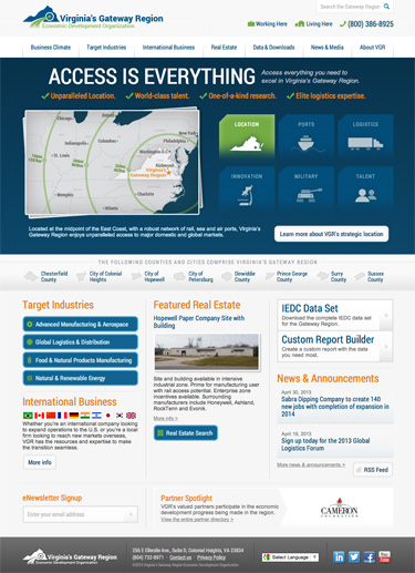Virginia's Gateway Region Launches New Website