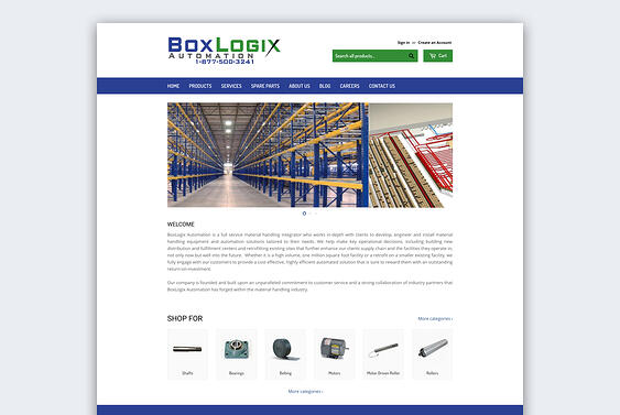 Screenshot of the old BoxLogix Automation website