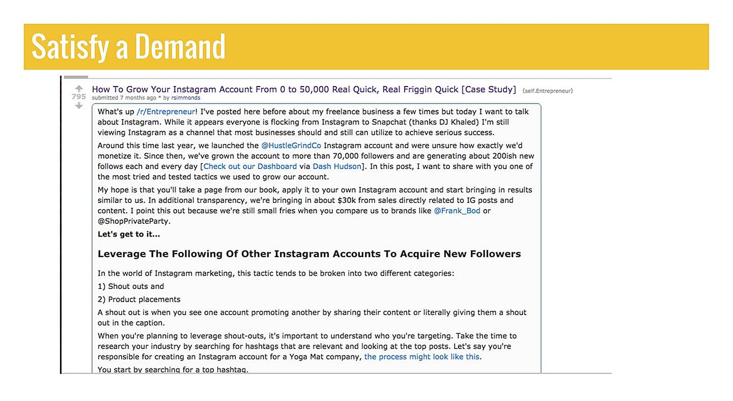 Slide: How to Grow Instragram Account article screenshot