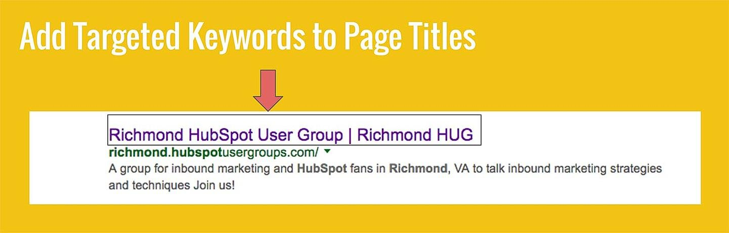 Slide: Add Targeted Keywords to Page Titles