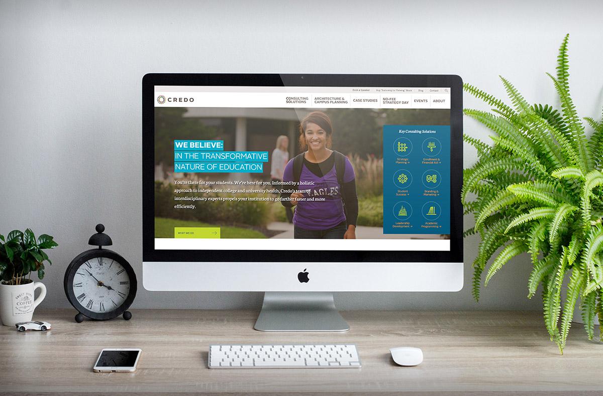 Credo website on a computer screen