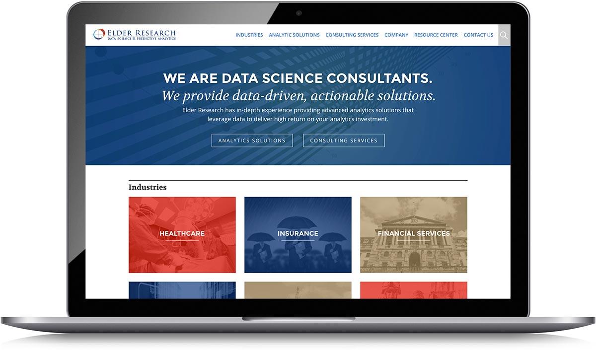Elder Research homepage screenshot