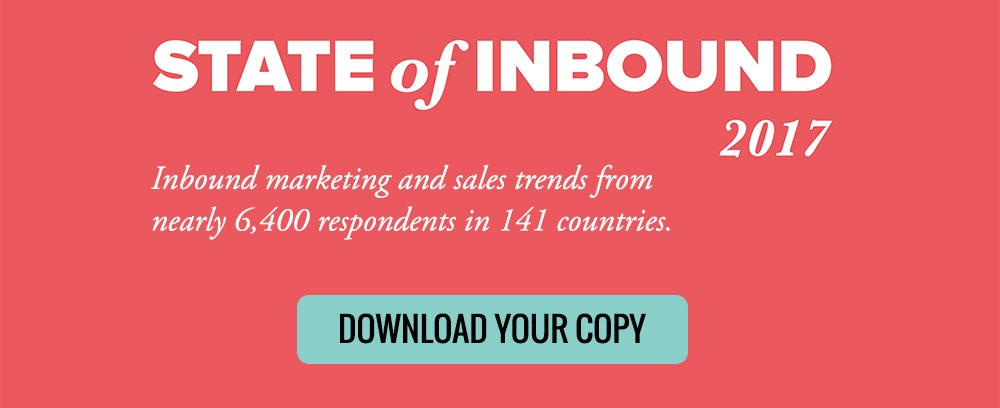Click to download the State of Inbound 2017 report