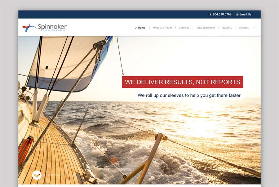 Old Spinnaker website - screenshot