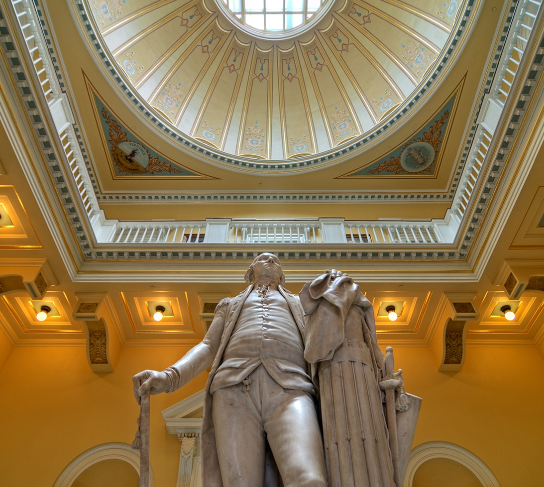 Photo inside the State Capitol building, Richmond, Virginia